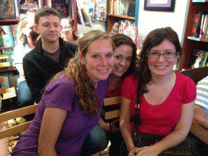 Basking in Secret Gardener love from Cordelia Jensen (left), Laurie Morrison (center), and Val Howlett (right)