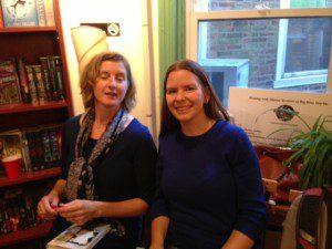 Catherine Gilbert Murdock (left) and Caroline Carlson