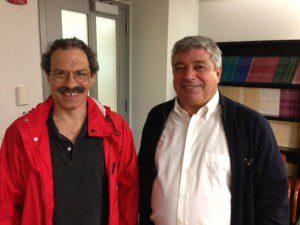 Richard Lachmann (left) with Portuguese scholar Luis Capucha