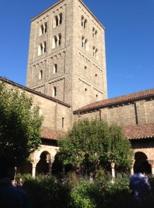 The Cloisters' Tower from the Cuxa Cloister.