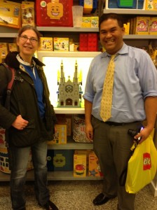 With Sid Dinsay (brickplate) and his St. Patbrick's Cathedral at the Lego Store in Rockefeller Center