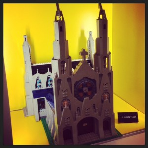 St. Patbrick's Cathedral in the display case.