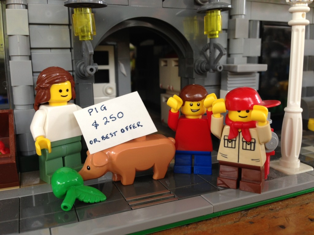 """""""...and sell it to buy you more LEGO."""" """"Yay!!"""""""