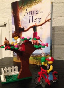 My interpretation of a scene in Anna Was Here, with LEGO minifigures.