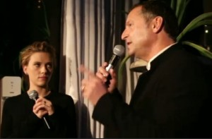 SodaStream CEO Daniel Birnbaum introduces Scarlett Johansson as the first Global Brand Ambassador.