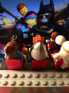 Minifigs enjoy the show.
