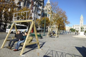 Holiday swings in Porto, which I photographed on a two-day trip in December 2012.