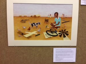 Illustration for sale from the award-winning The Boy Who Harnessed the Wind.