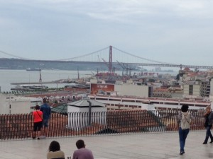 View of the Rio Tejo from the Miradouro Santa Caterina.