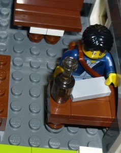 I was so busy with my manuscript at the workshop that I didn't take any pictures. Here's my Lego guy writing instead.