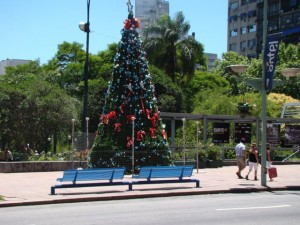 Ever seen a Christmas tree in the middle of summer? Yes, the end of December is summer in most of South America.
