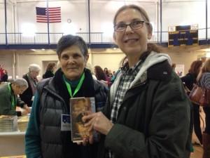 With author Amy Gordon, who grew up in Rio de Janeiro.