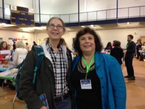 With Rochester author Vivian Vande Velde.