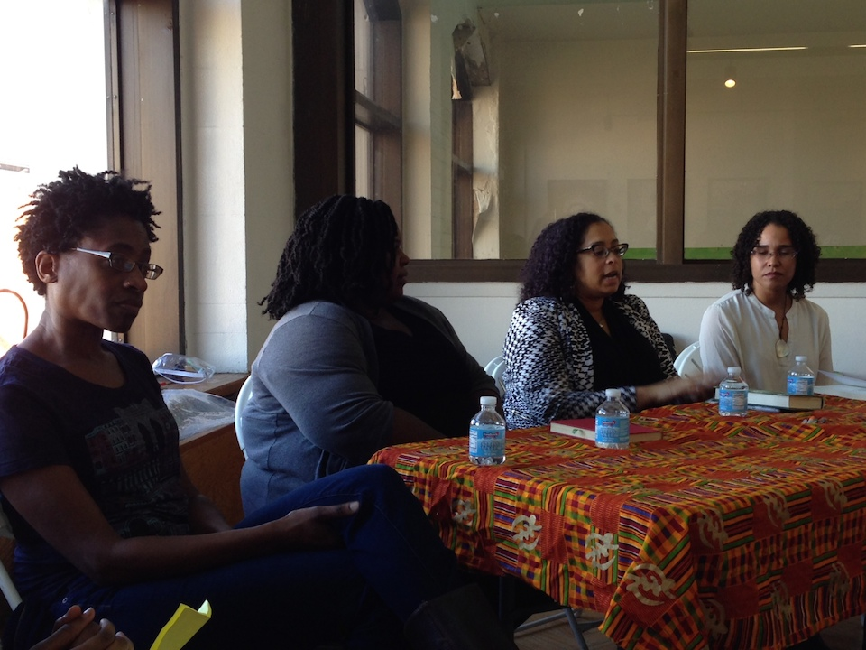 The panel, from left: Jacqueline Woodson, Renee Watson, Tonya Cherie Hegamin, Zetta Elliott.