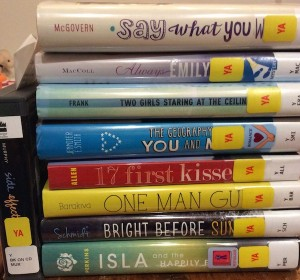 These books (and a book on CD) came from the Guilderland Public Library, which hosts our SCBWI meetings.