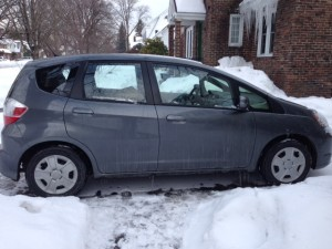 The Honda Fit has a name. It's Gus.
