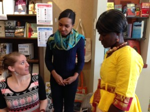 The three creators of One Plastic Bag, from left: Miranda Paul, Liz Zunon, and Isatou Ceesay.