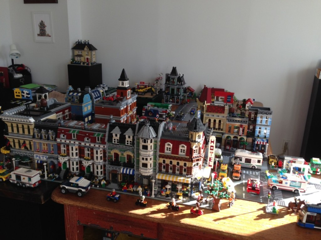 The front of Little Brick Township in its new home.