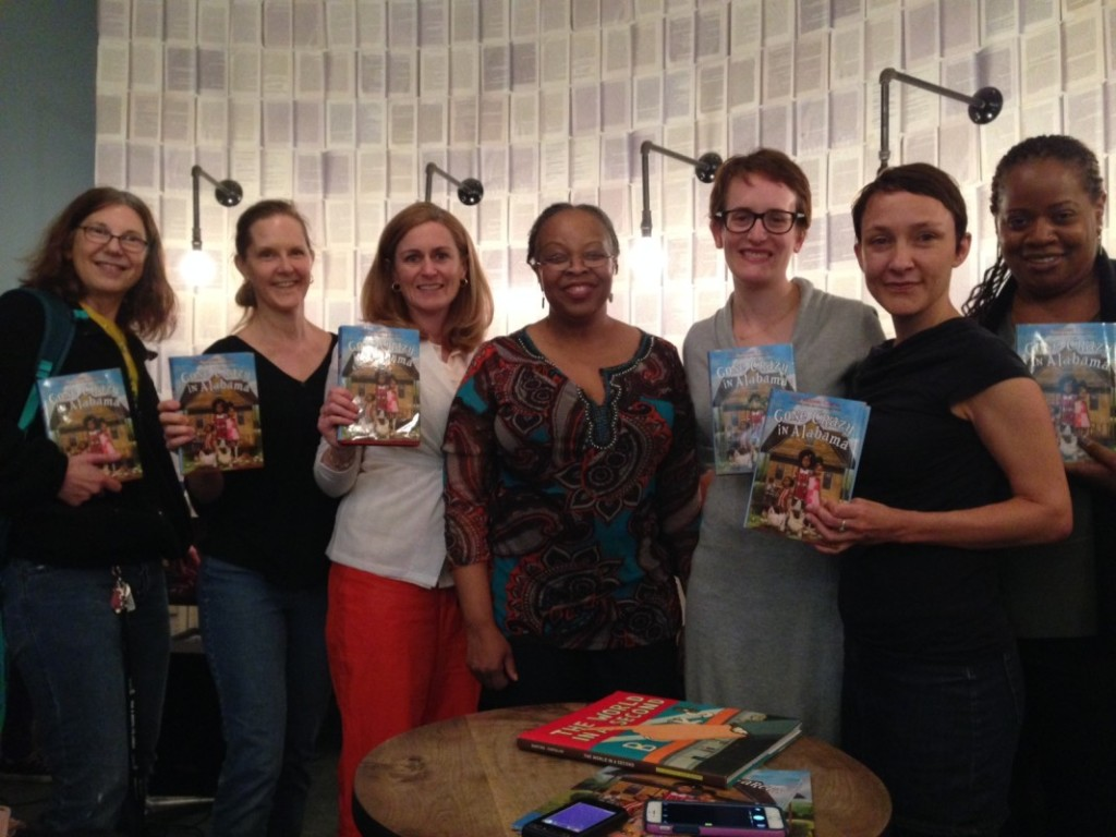 My VCFA professor Rita Williams-Garcia at her book launch party at McNally-Jackson for Gone Crazy in Alabama. Surrounding her are students, alumni, and faculty members, from left, me, Susan Korchak, Katie Bartlett, Rita, Maggie Lehrman, Mariana Baer, and Coe Booth.