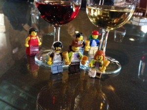 My Lego boozehounds enjoy their tour of the port wine caves.