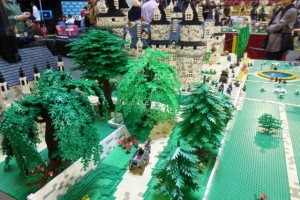 The interplay of castle, church, and trees made this one of the event's most impressive displays.