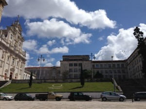Entrance to the University of Coimbra.