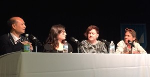The translation panel, from left: Ajia, Mara Lethem, Laura Watkinson, Claudia Zöe Bedrick.