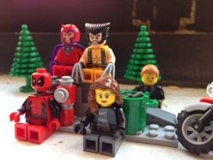 The Rogue Players, from left: Deadpool, Magneto, Wolverine, Rogue, Gambit.