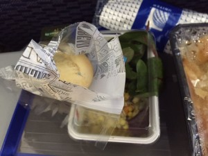 Foodies beware! There was mold on the bread of my airline meal.