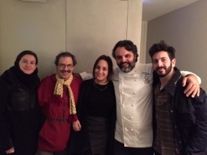 The family poses with Marco Stabile, the chef behind Ora d'Aria. He looks like my image of the artist in Jandy Nelson's I'll Give You the Sun.