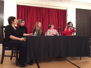 Panelists, from left, Mary Ann Newman, Heather Cleary, Katrine Ogaard Jensen, Allison M. Charette, and moderator Allison Markin Powell.