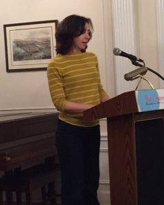 PEN Translation Committee co-chair Allison Markin Powell introduced the panel at the Center for Fiction.