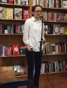 I was back at Bluestockings last month to hear Meagan Brothers read from and talk about her acclaimed Weird Girl and What's His Name.