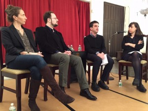 Panelists, from left, Lexy Bloom, Jeremy Davies, Declan Spring, Sal Robinson.