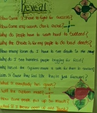 """Reveal,"" Nigeria's thoughtful and eloquent poem on the wall of the classroom."