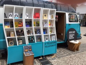 A Translation Van featured classic Portuguese authors in French, German, and English.
