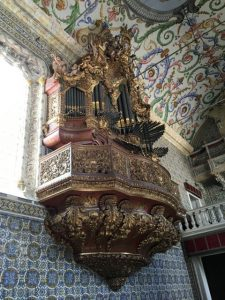 The university chapel with an organ that proved too large for the space. Photo by Sandra Nickel.