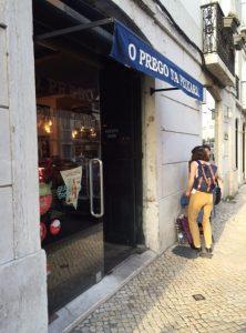 Outside the Principe Real location of O Prego da Peixaria.