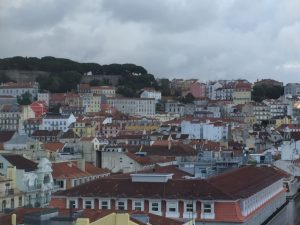 The Castelo São Jorge, top left, is an iconic part of the Lisbon skyline.