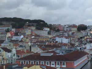 The Castelo São Jorge, top left, is an iconic part of the Lisbon skyline.