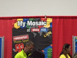 Mosaic building with LEGO was a popular activity.