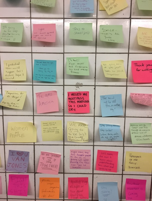 More messages on the wall.