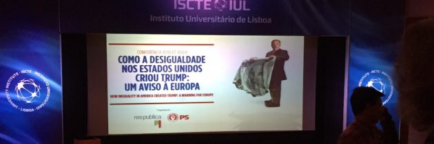 Robert Reich Speaks in Lisbon